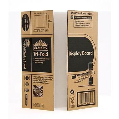 Elmer's Mini Tri-Fold Corrugate Display Board, 10/Pack