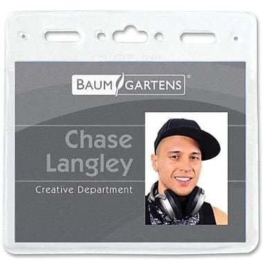 """Baumgartens ID Badge Holder, 3"""" x 4"""", 50/Pack"""