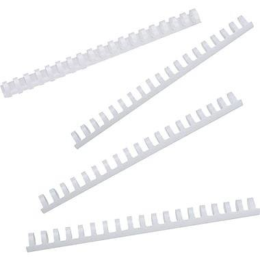 """GBC CombBind Binding Spines, 1/2"""" White, 100/Pack"""
