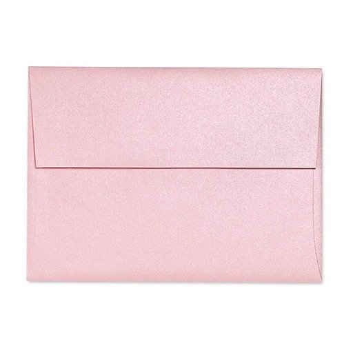 "LUX 5-3/4"" x 8-3/4"" 80lbs. A9 Invitation Envelopes W/Glue, Rose Quartz Metallic Pink, 50/Pack"