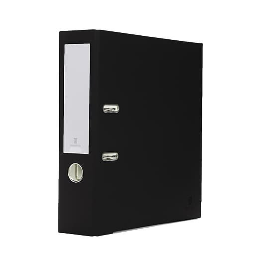 Bindertek 2-Ring 3-Inch Premium Binders, Black