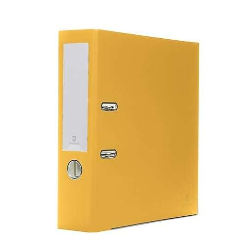 Bindertek 2-Ring 3-Inch Premium Binders, Yellow