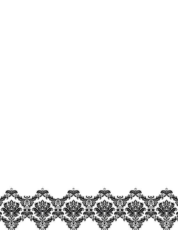 Geographics Black & White Damask Letterhead - 50/pack