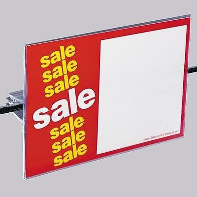 """FFR Merchandising GS SuperGrip® Covered-Face Sign Holder, 3 1/2"""" H x 5 1/2"""" L, 15/Pack"""