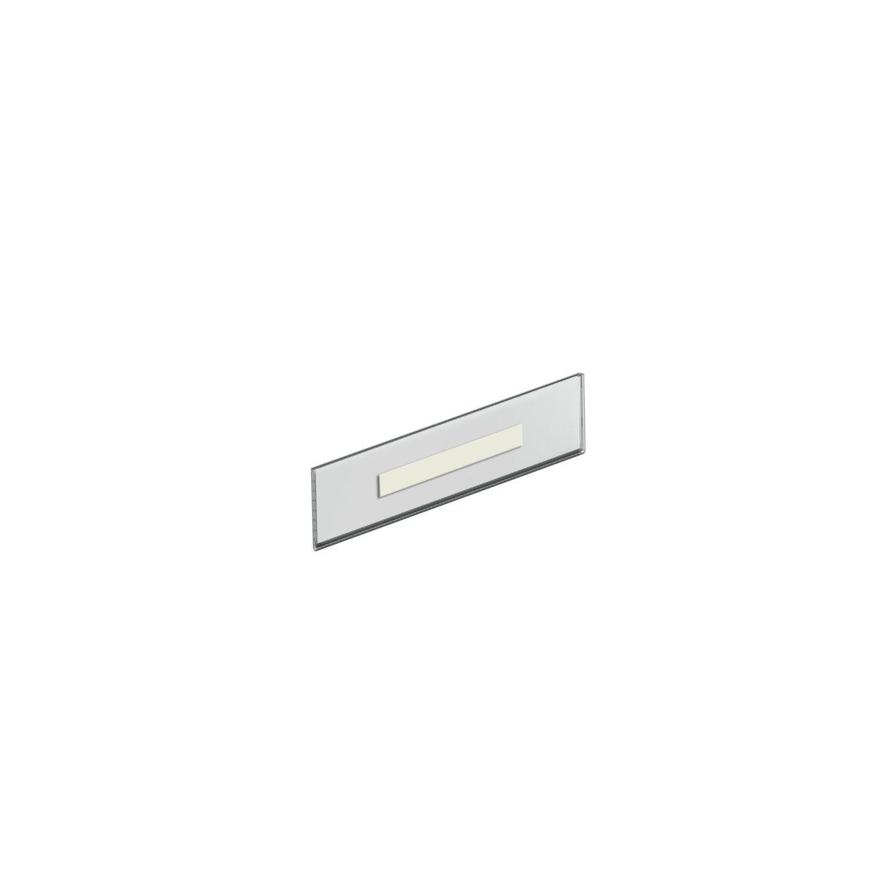 """Azar Nameplate Holder, 2.5"""" x 8.5"""", Clear Acrylic, 10/Pack"""