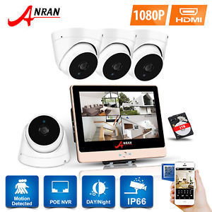 Home Security 4 Channel NVR CCTV 1080P HD Package (inc installation)