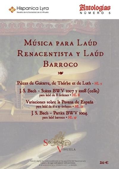 Música para laúd renacentista y laúd barroco / Music for renaissance and baroque lutes
