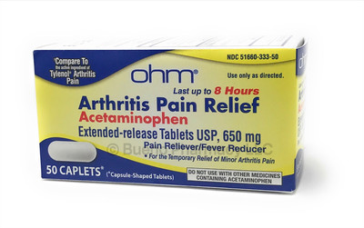 Ohm® Arthritis Pain Relief (Acetaminophen 650 mg ER)