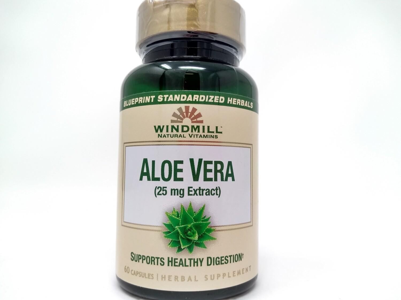 Aloe Vera 25mg Extract 60 Capsules