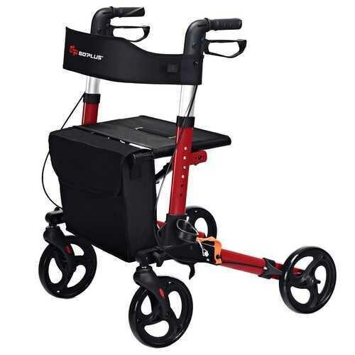 Folding Medical Rollator Lightweight Aluminum Walker for Seniors