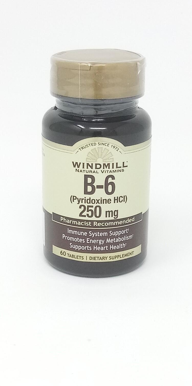 B-6 250 Mg 60 Tablets