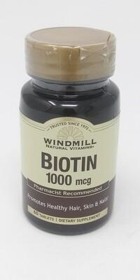 Biotin 1000mcg    60 Tablets