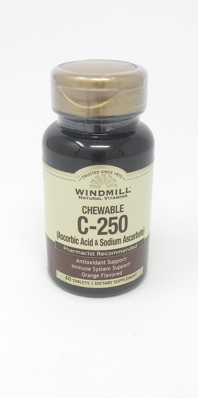C-250 Chewable   60 Tablets Orange Flavor