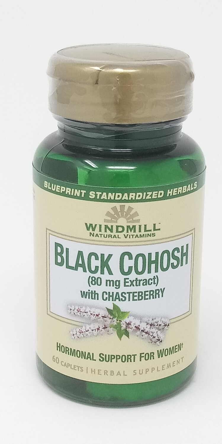 Black Cohosh 80 Mg Extract With Chasteberry  60 Caplets
