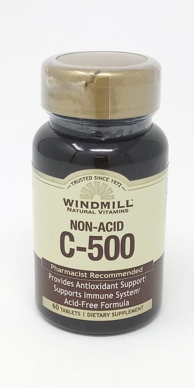 C-500 mg    Non Acid 60 Tablets