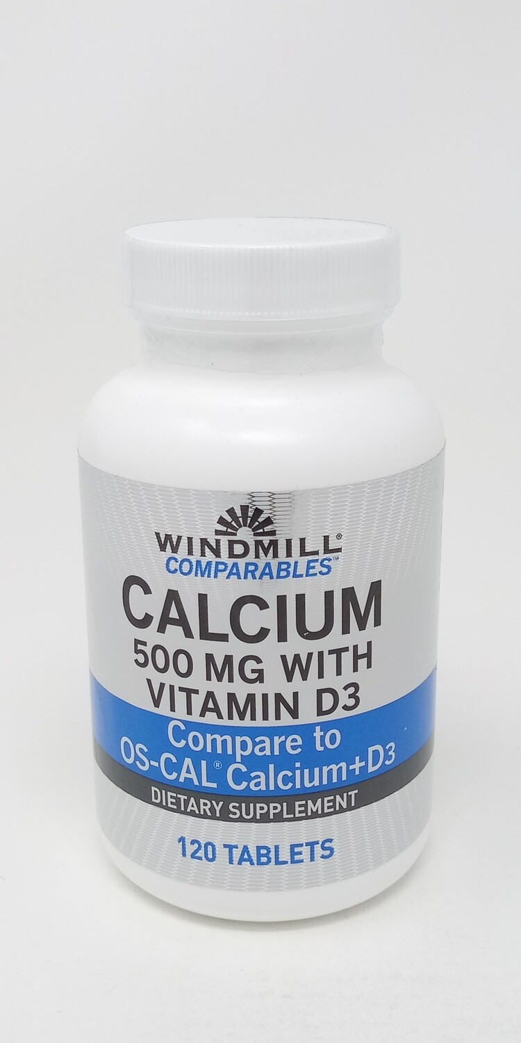 Calcium Carbonate 500mg With Vitamin D3  120 Tablets