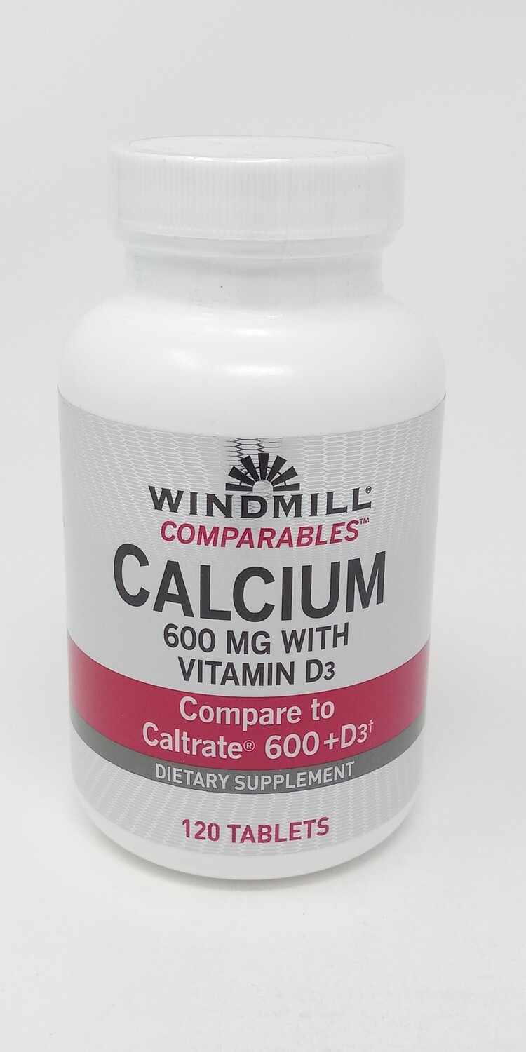 Calcium Carbonate 600mg With Vitamin D-3   60 Tablets