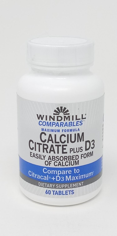 Calcium Ciltrate + D-3    60 Tablets
