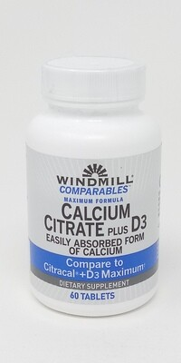 Calcium Ciltrate + D-3    60 Tablets