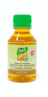 Capilo Aceite De Almendra/ Almond Oil 4 Oz.