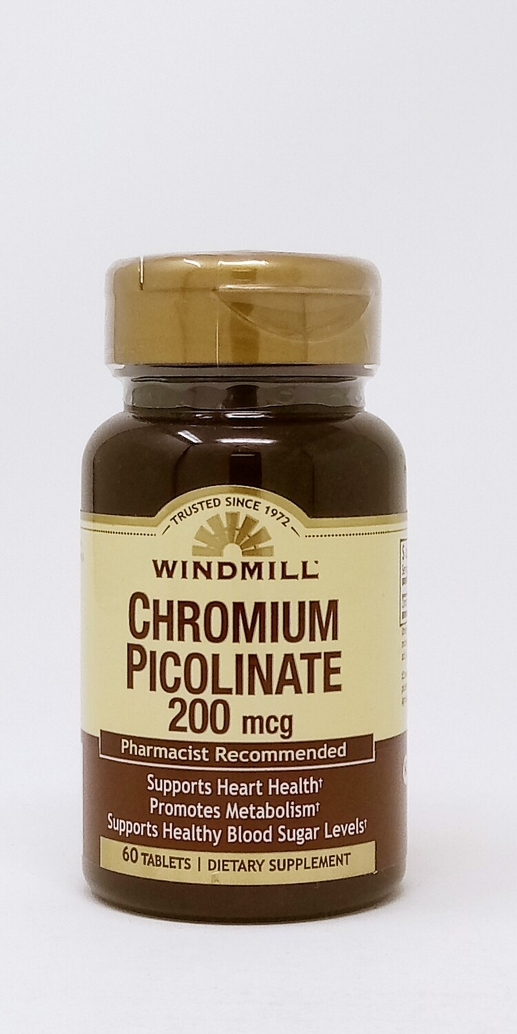 Chromium Picolinate 200 Mcg    60 Tablets