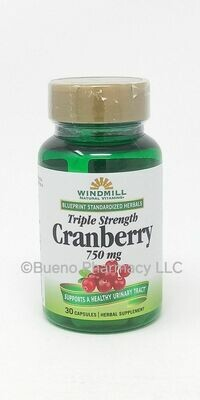 Cranberry 750mg Extract   30 Capsules