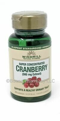 Cranberry Extract   (500 Mg Extract) 30 Capsule's