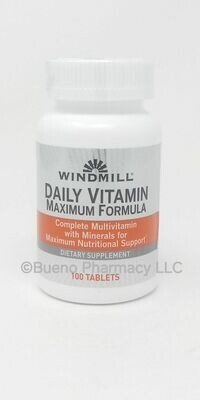 Daily Vitamin Maximum  Formula     100 Tablets