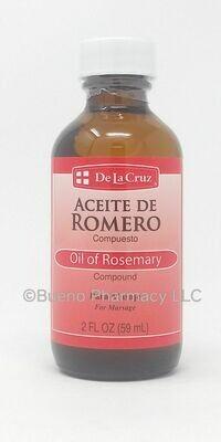 De La Cruz Aceite De Romero/ Rosemary Oil 2 fl oz
