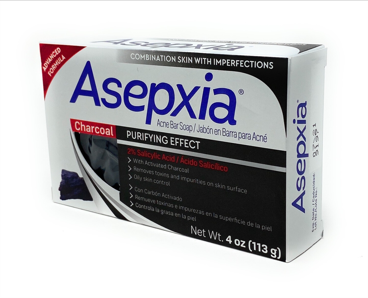 Asepxia  Charcoal Acne Bar Soap 4oz
