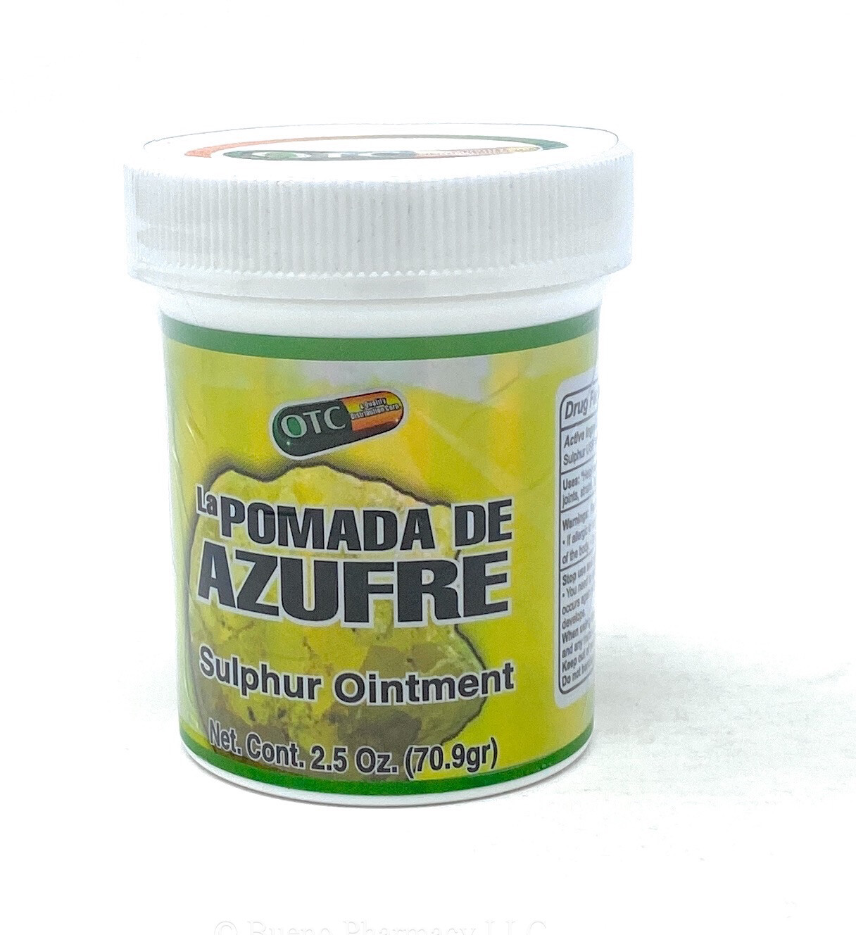 Pomada De Azufre /sulphur Ointments 2.5oz( Green)