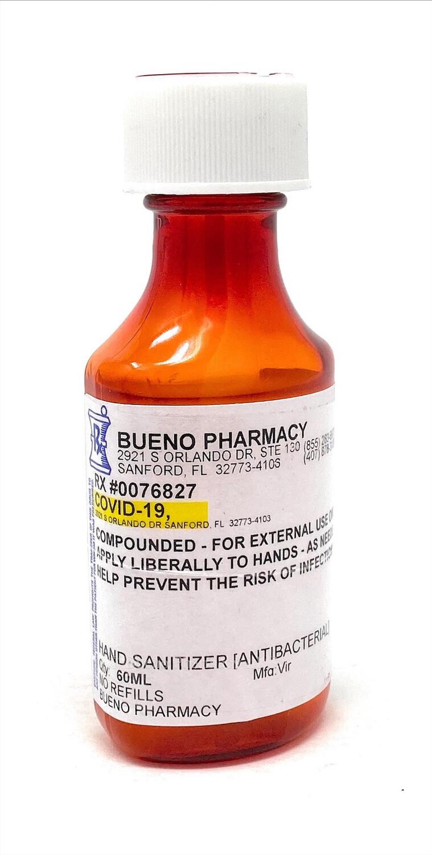 Compound Hand Sanitizer (Antibacterial) 2 Oz