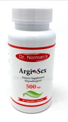Dr. Norman's Argi-Sex 500 Mg. 60 Veggie-Caps.