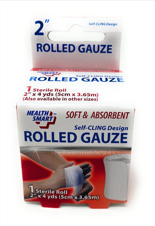 "2""+4 Yds Rolled Gauze"