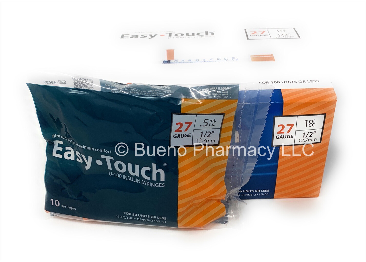 """Easy Touch 27 G .5 Ml 1\2 """""""