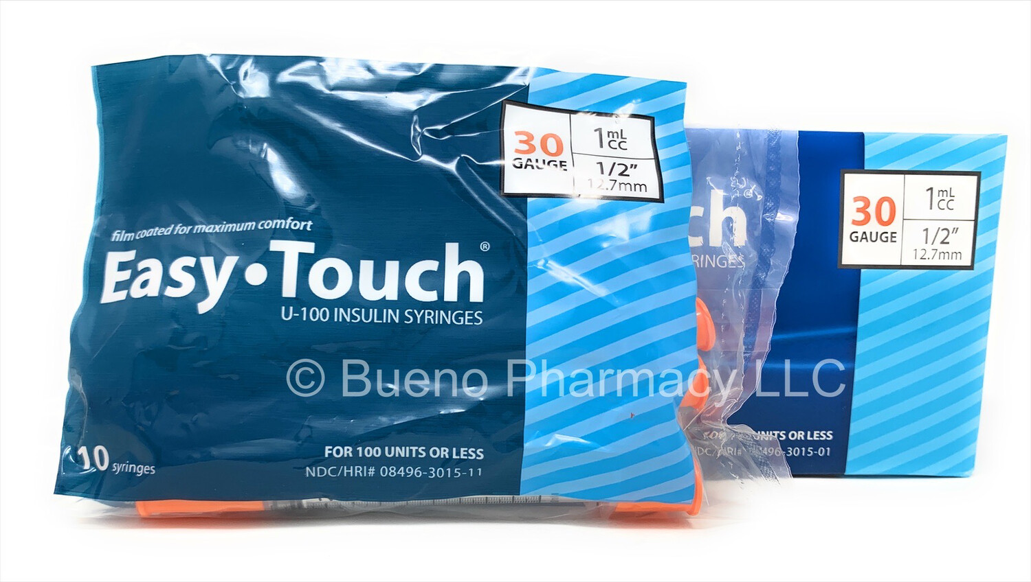 """Easy touch 30 G 1 cc 1/2"""""""