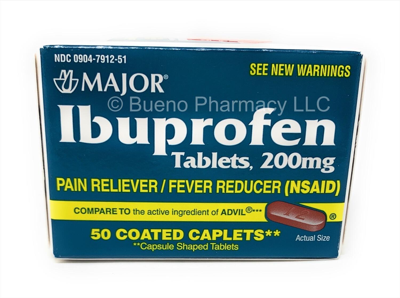 Major Ibuprofen 200mg (50 Coated Caplets)