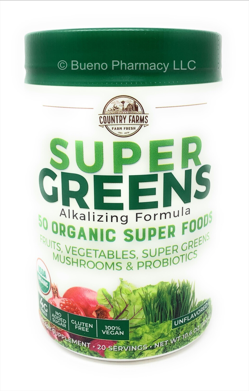 Country Farms Super Greens Drink Mix Natural   10.6 Oz