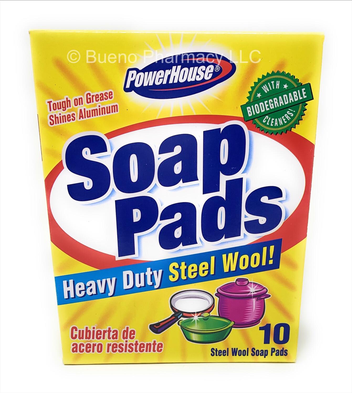 PowerHouse Soap Pads Heavy Duty Steel Wool