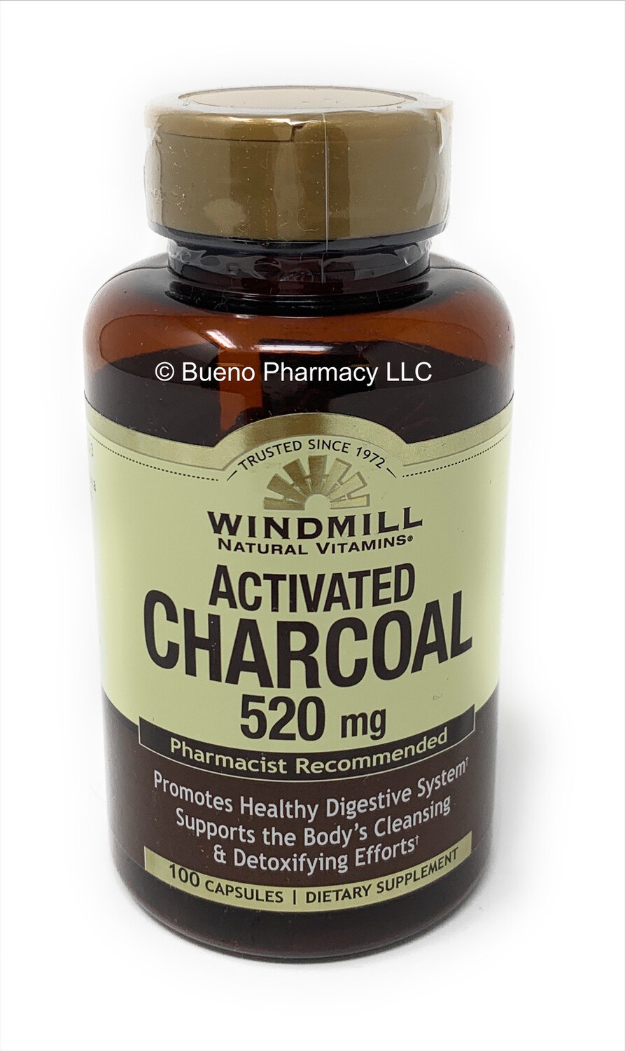 Activated Charcoal 260mg 100 Capsules