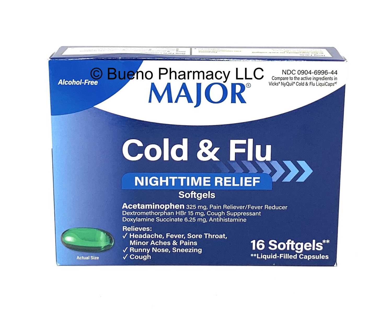 Major Cold & Flu Nightime Relief Softgel