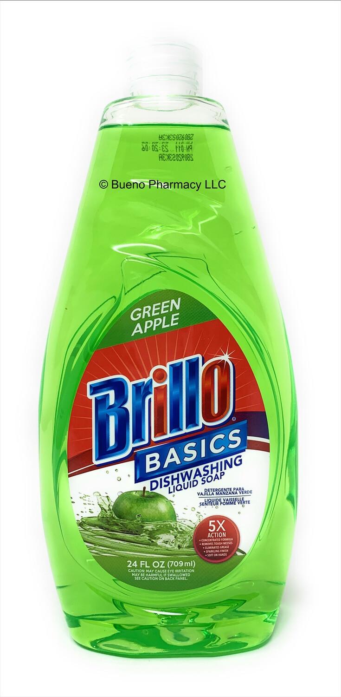 Brillo Basics Dishwashing Liquid Soap (Green Apple) 24oz