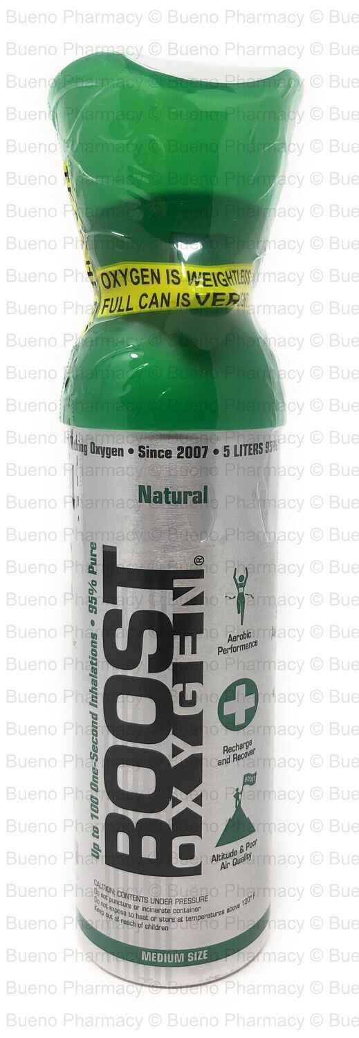 Boost Oxygen Natural (95% Pure Oxygen Can for Personal Use) (5Liters)