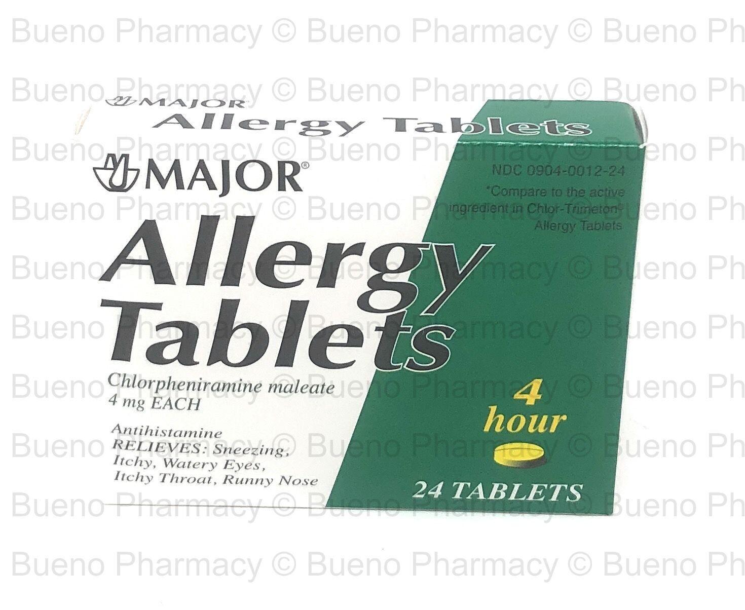 Major Allergy Tablet 4 Mg