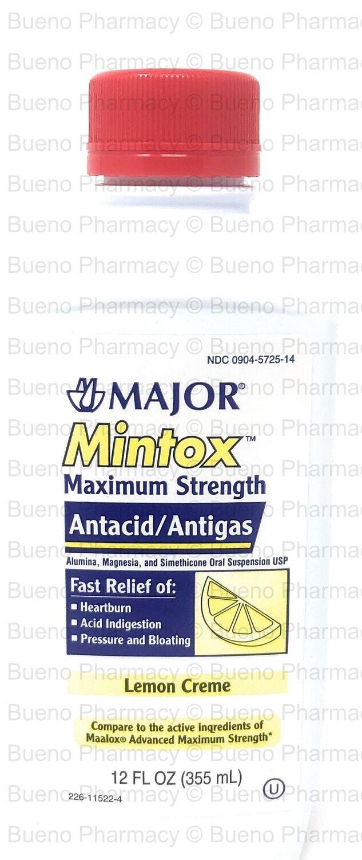 Major Mintox Maximum Strenght (Antacid  Antigas)