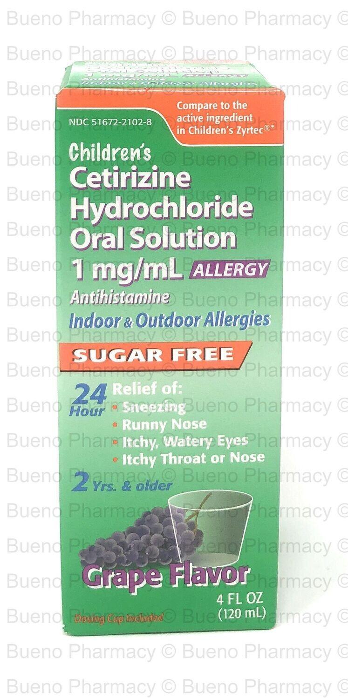 Children's Cetirizine Hydrochloride Oral Solution Grape