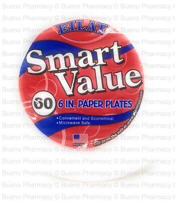 "PAPER PLATE 6"" ELIAT 60 CT"