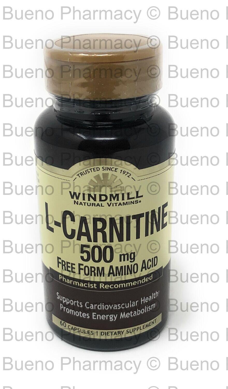 L-Carnitine 500mg 60 Capsules