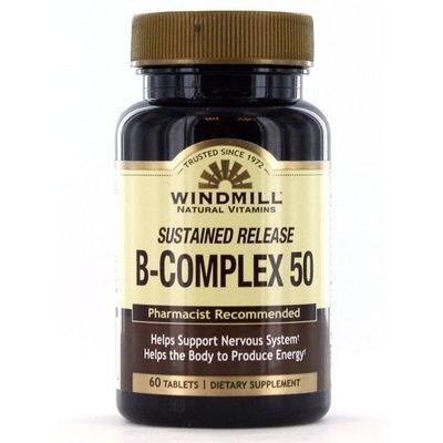B Complex 50 Sustained Release   60 Tablets