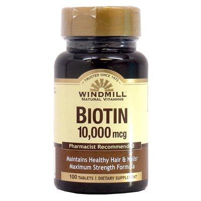 Biotin 10,000mcg  100 Tablets